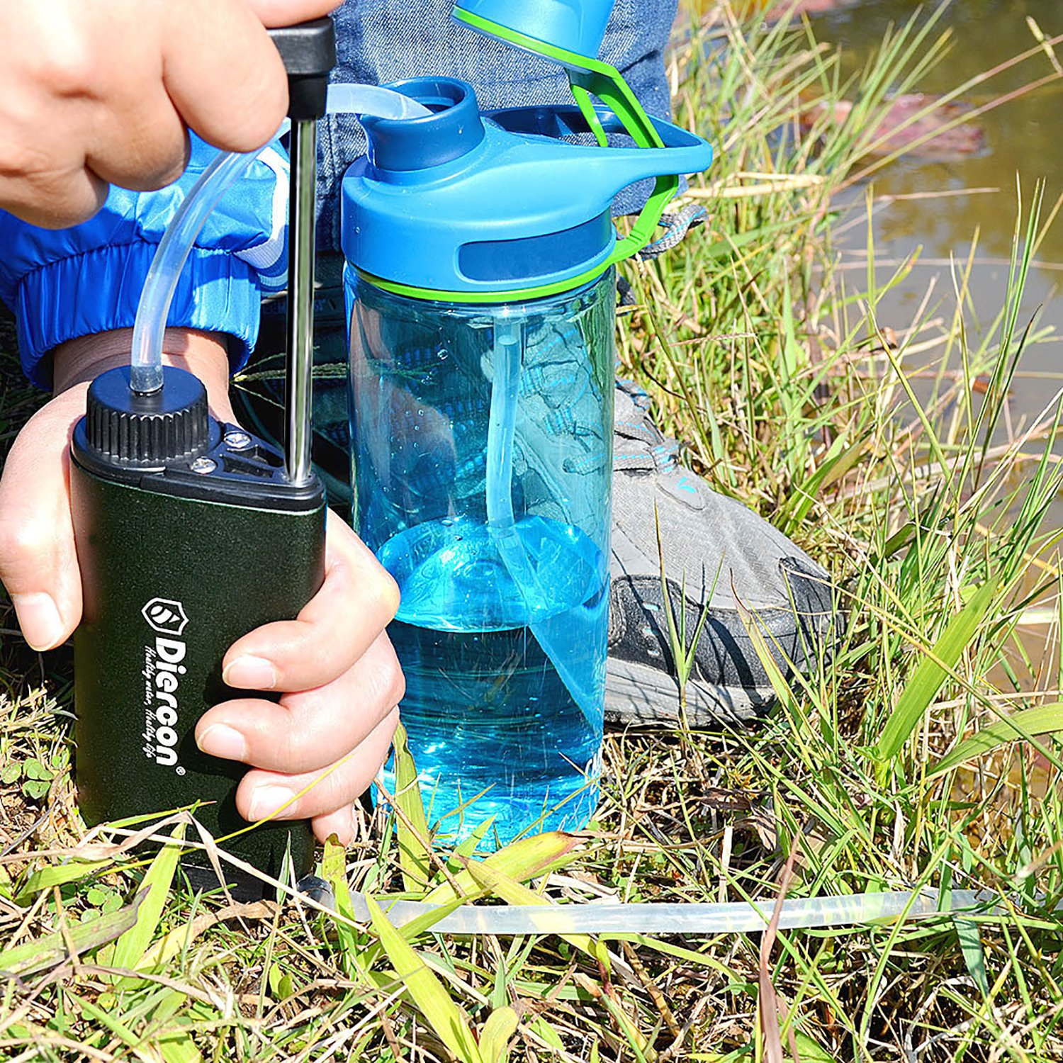 14bab83aa0 Amazon.com: Diercon Tactical Water Microfilter -Upgraded Aluminium  Monocoque Body, Portable Water Filter Pump with 3 Stage Purification,  Emergency Water ...