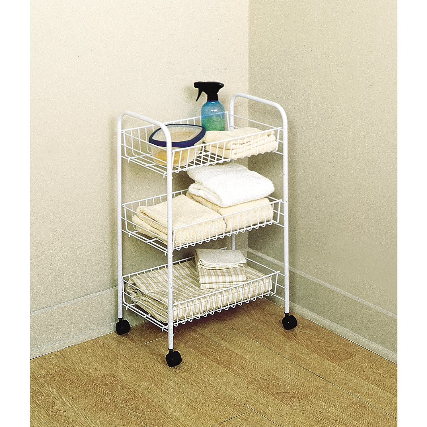 Amazon.com: Rubbermaid 3 Tier Wheeled Storage Cart (82000): Kitchen U0026 Dining
