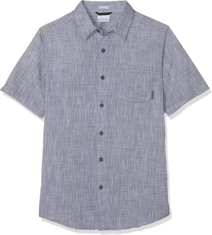 Columbia Hombre Camisa de manga corta, Under Exposure YD Short Sleeve Shirt, Algodón, 1715225: Amazon.es: Ropa y accesorios