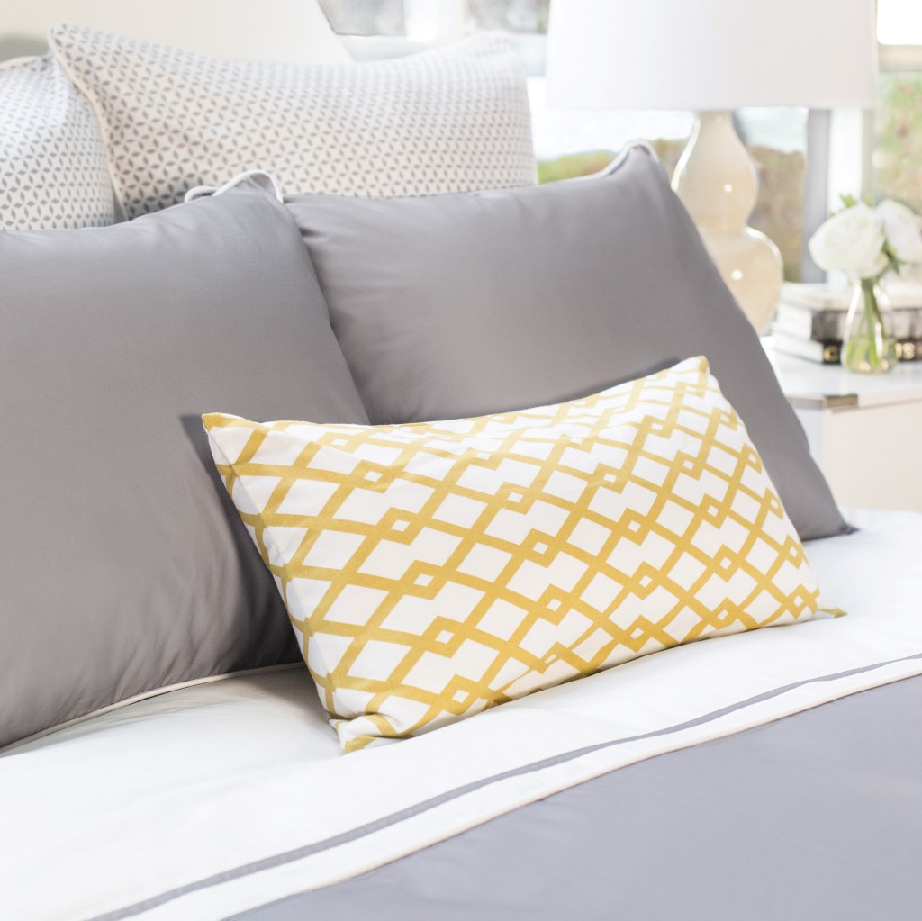 The Hayes Nova Gray Duvet Set | Crane & Canopy
