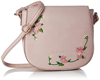 7416df196803 Image Unavailable. Image not available for. Colour: Caprese Elsy Women's  Sling Bag (Powder Pink)