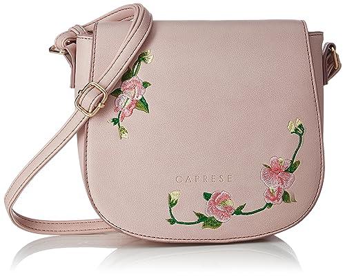 d7a8bcdb0 Caprese Elsy Women s Sling Bag (Powder Pink)  Amazon.in  Shoes   Handbags