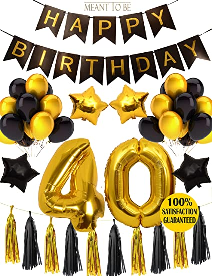 MEANT2TOBE 40th Birthday Party Decorations KIT