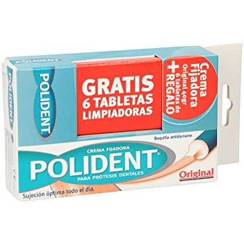 Amazon.com : POLIDENT CR 40GR FIJ DENTAL+6 TABS : Beauty