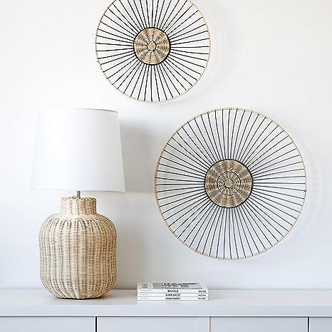 Kenay Home Lido Lámpara de Mesa E27, Natural 77 x 36 x 36 cm ...