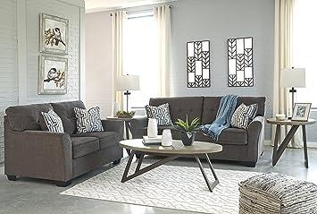 Amazoncom Alsen Contemporary Granite Color Fabric Sofa And