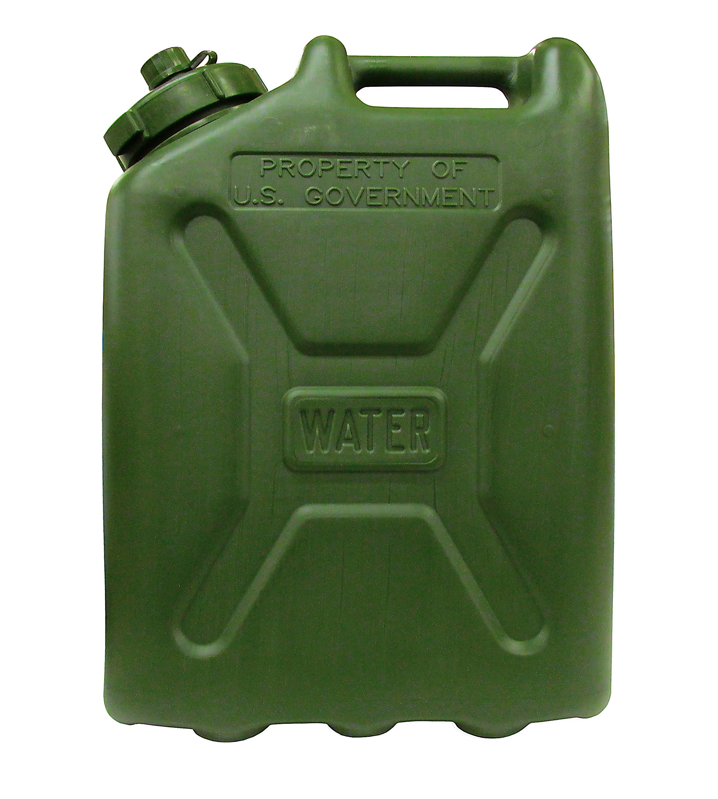 USGI Plastic Water Can, 5 Gallon, Green by Skilcraft