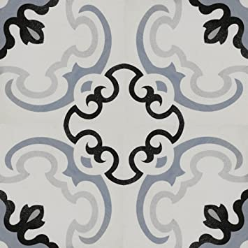 Zementfliesen Optik Gotik Greco 22 3x22 3cm Boden Fliesen Zement