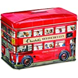 Churchill's London Bus Money Box Tin with Toffees 200 g