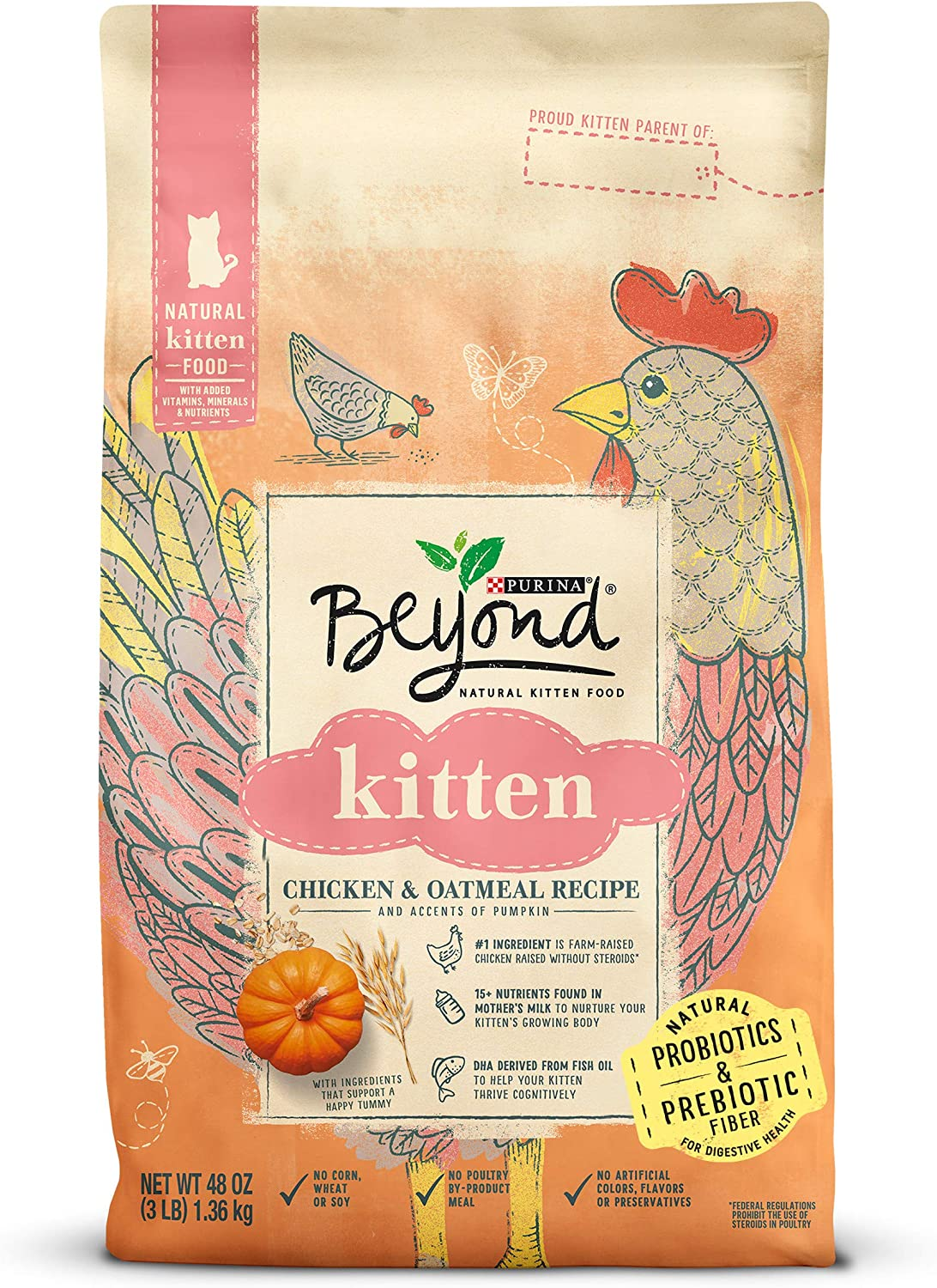 Purina Beyond Simply Natural, Adult Dry Cat Food & Kitten Food