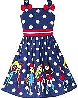 Girls Dress Blue Bug Pink Dot Size 2-8 Years