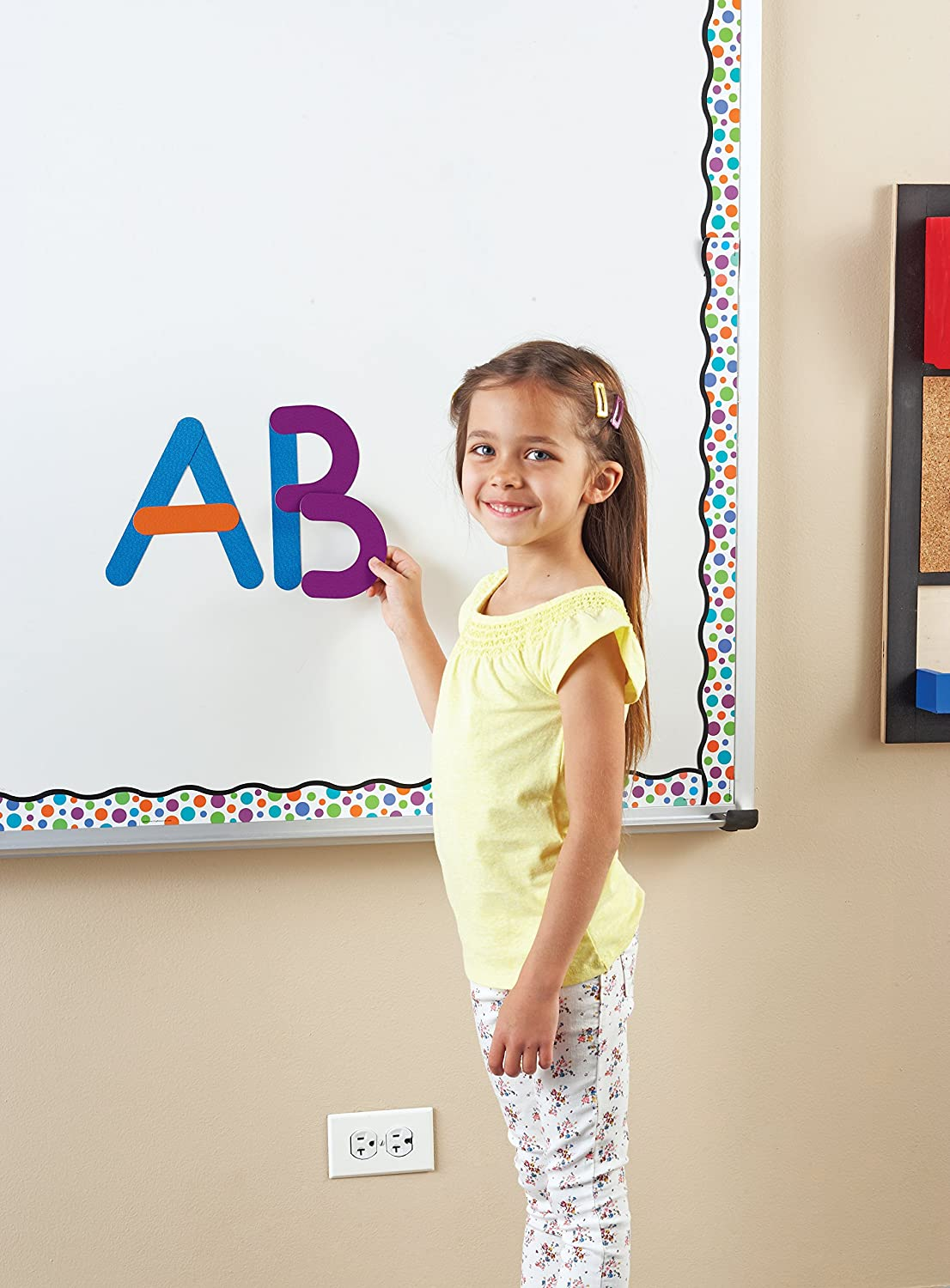 Ages 4+ Giant Magnetic Letter Construction Fine Motor Toy Classroom Accessories 21 Pieces