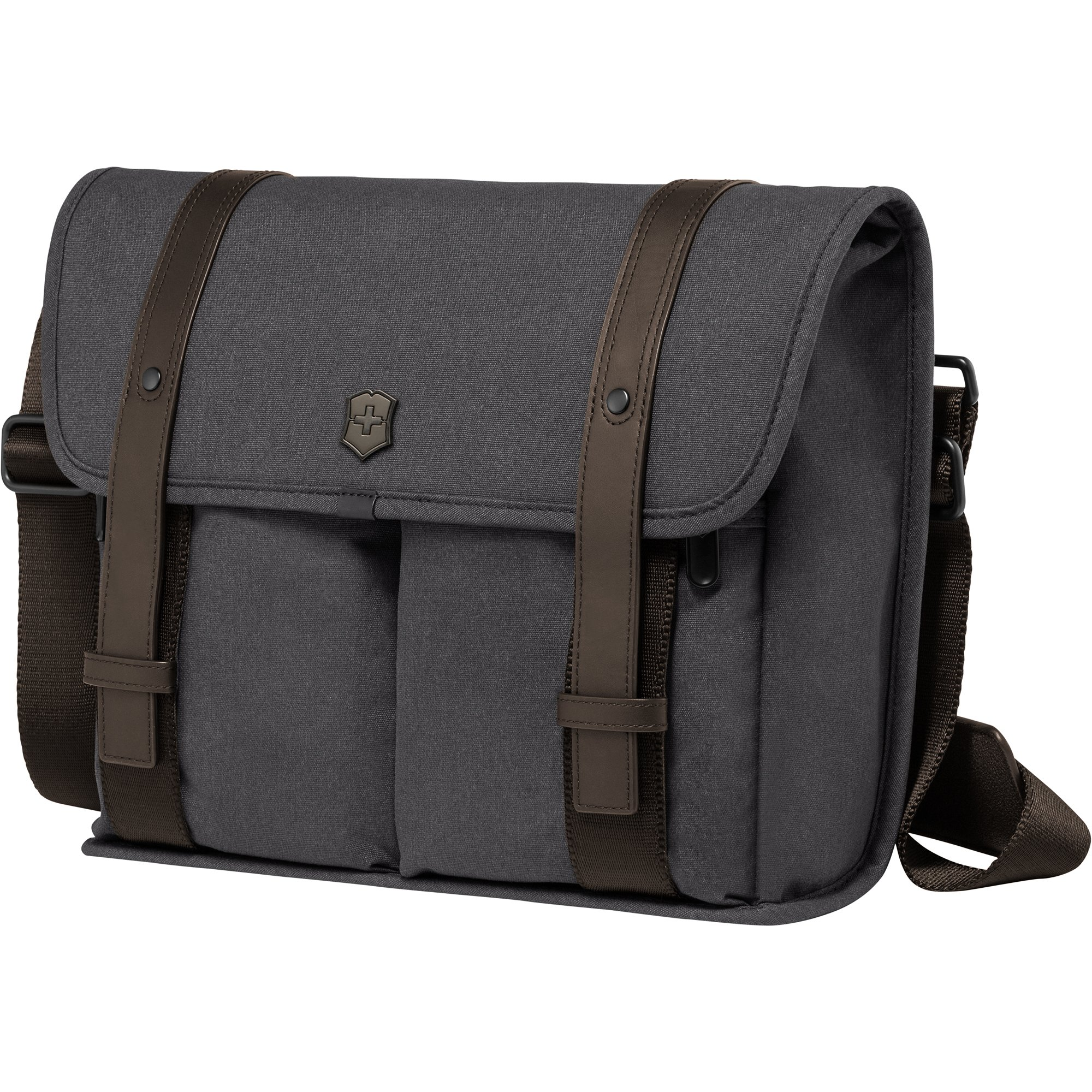 Victorinox Architecture Urban Lombard Laptop Messenger Bag, Grey/Brown, One Size by Victorinox