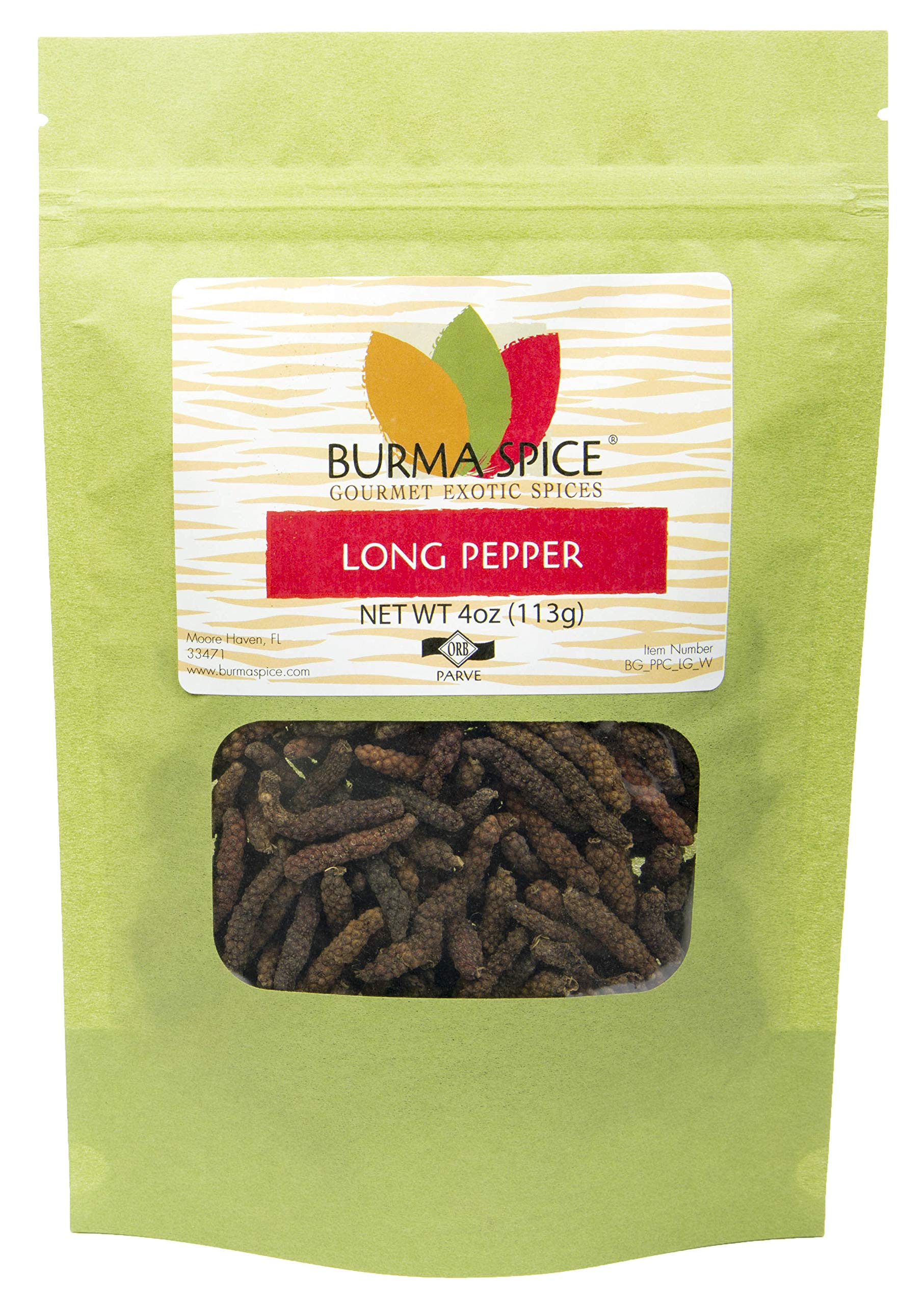 Long Pepper Whole | Piper longum | 100% Pure | Kosher Certified (4 oz.)
