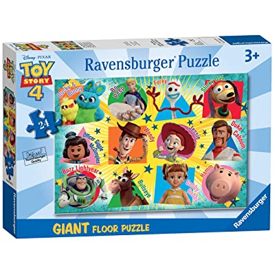 Ravensburger 05562 Disney Pixar Toy Story 4 - 24 Piece Giant Floor Jigsaw Puzzle for Kids - Every Piece is Unique - Pieces Fit Together Perfectly,Multicoloured: Toys & Games