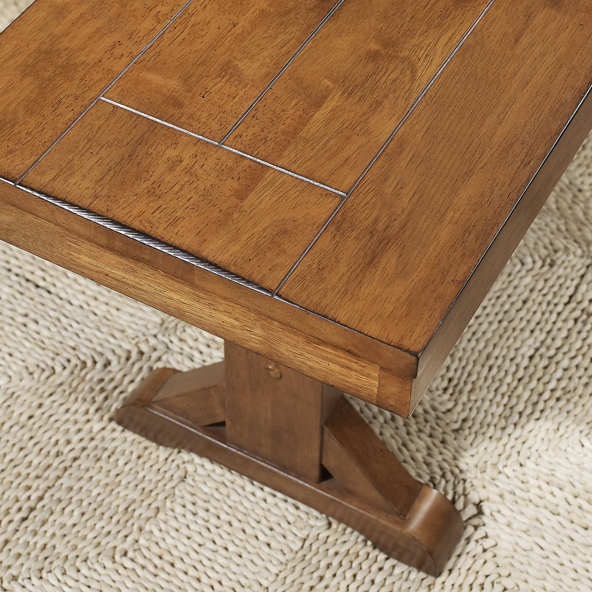 WE Furniture Solid Wood Brown Dining Bench by WE Furniture (Image #2)
