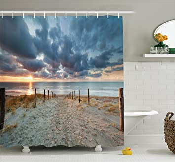Amazon Ambesonne Seaside Decor Collection Seaside Walking