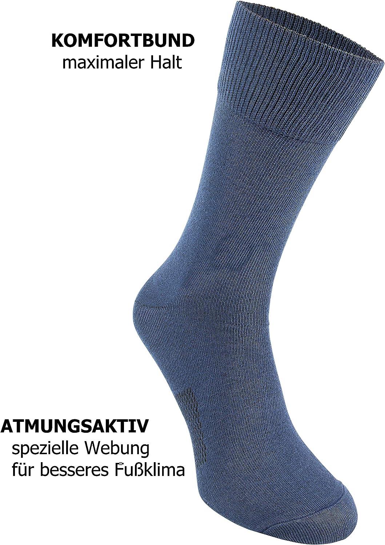 Cliff Edge atmungsaktive PREMIUM Business Socken Herrensocken in schwarz und blau kein Schwitzen dank bester Qualität