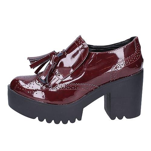Olga RUBINI - Mocasines de Charol para Mujer Morado Size: 40 EU: Amazon.es: Zapatos y complementos