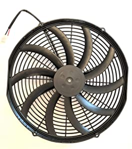 "16"" Puller Fan Spal P/N 30102049 12 VOLT High Performance Curved Blade 2024 cfm"