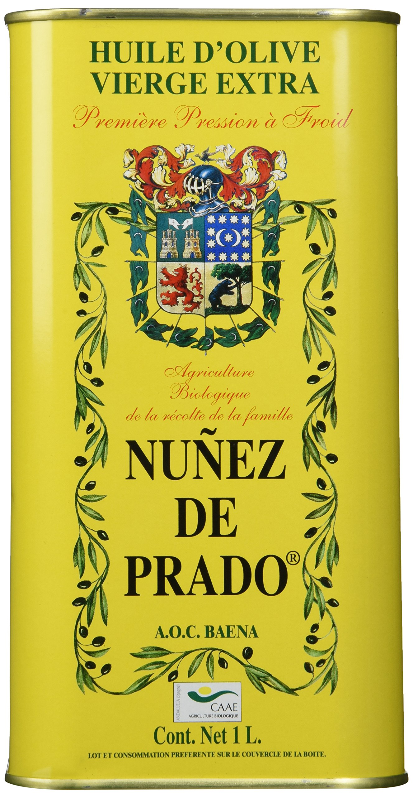 Nunez De Prado Extra Virgin Olive Oil Tin, 33.8 Ounce