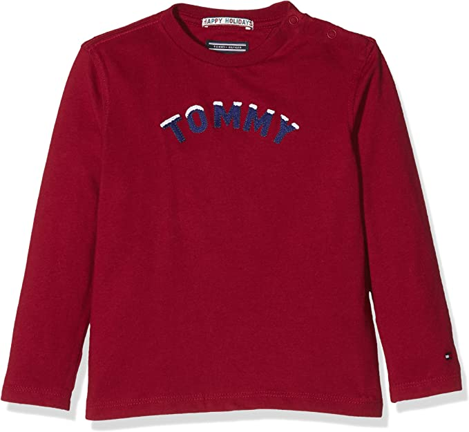 Tommy Hilfiger H Applique Cn tee L/S Camisa Manga Larga para Niños: Amazon.es: Ropa y accesorios
