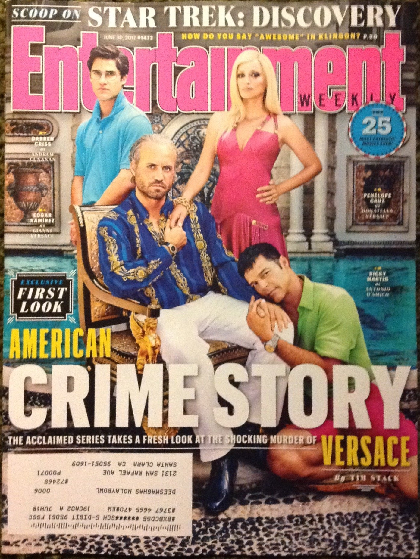 Read Online Entertainment Weekly (June 30, 2017) American Crime Story: Versace pdf
