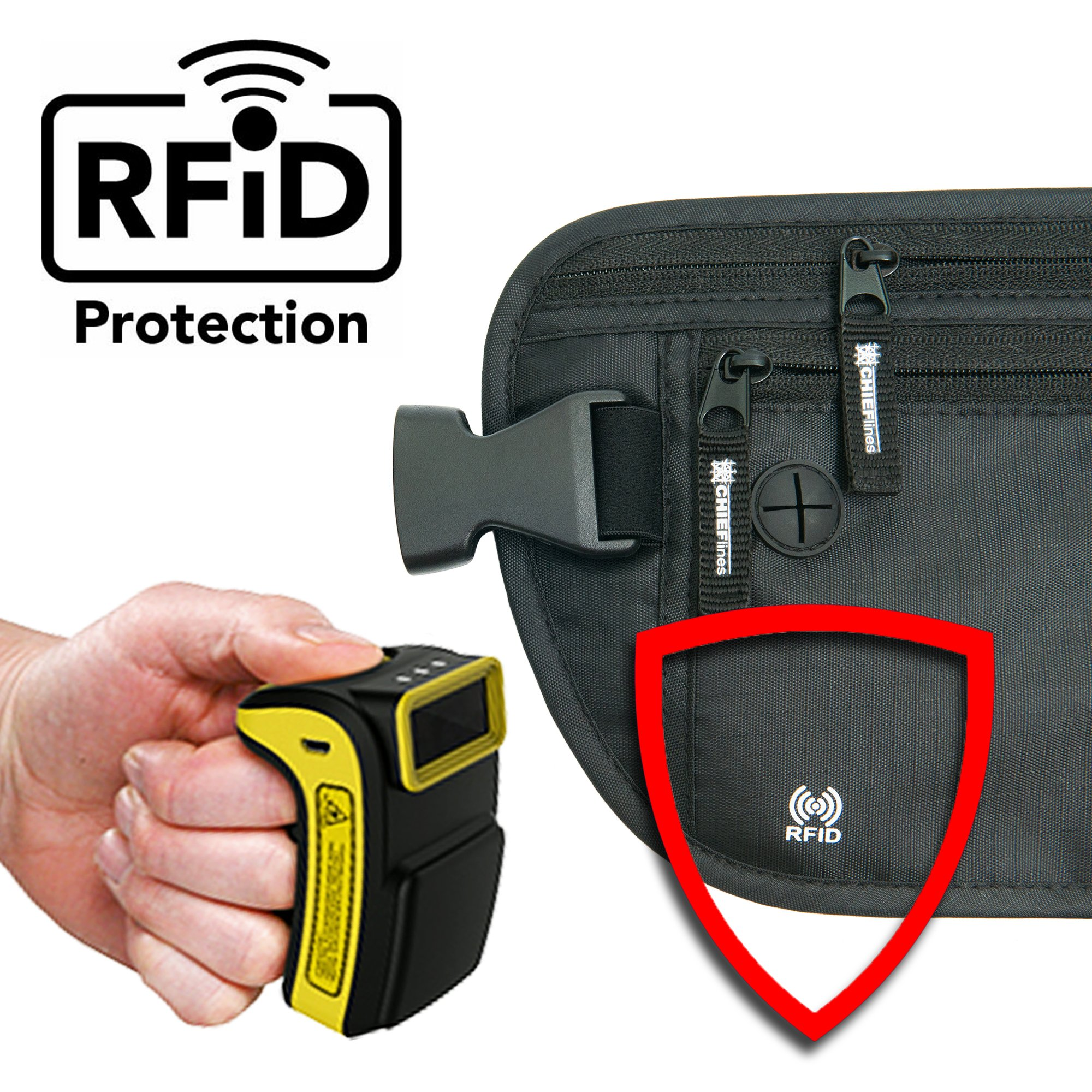 Money Belt RFID Blocking Undercover Hidden Waist Stash For Travelling