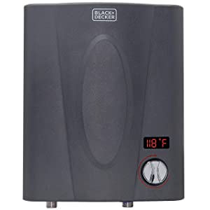 BLACK + DECKER 11 kW Self-Modulating 2.35 GPM Electric Tankless Water Heater, Point of Use hot water heater electric