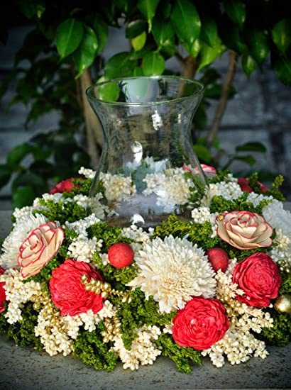Buy Grand Flower Bouquet Decoration For Centre Table Candle