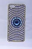 Smart Fox Sirvoski Double Shaded Full Stones Designer Back Cover For I Phone5S/5G 1389409031 (Blue)