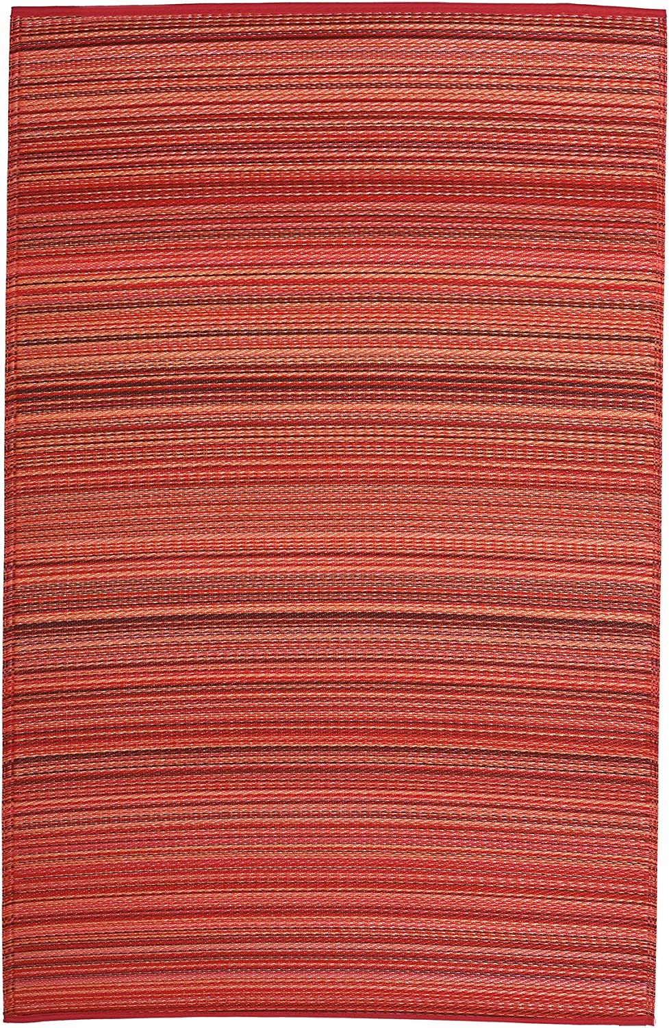 FAB HAB Reversible Outdoor/Indoor Rug | Perfect for Decking, Garden, Patio | Mold, Mildew, UV & Stain Resistant | Cancun - Sunset | 240 cm x 300 cm