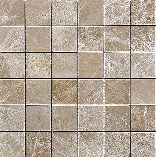 Emperdaor X Tumbled Mosaic Tiles On X Sheet For Backsplash - 12x12 tile shower walls