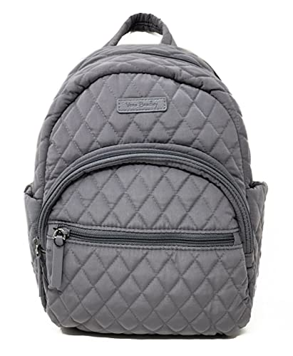 946653ce959a Amazon.com  Vera Bradley Leigh Small Quilted Backpack (Carbon Gray ...