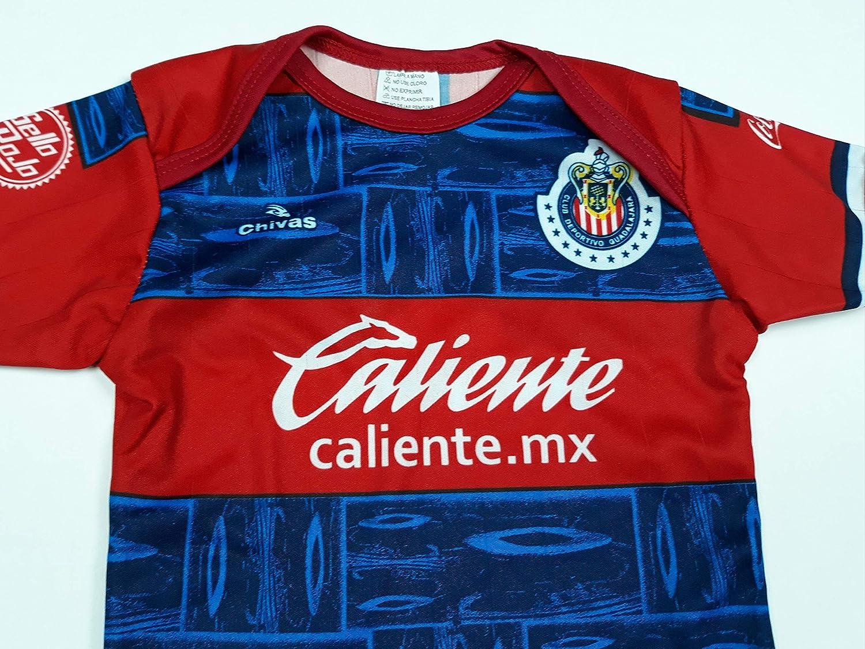 Soccer Chivas Del Guadalajara Baby Jersey Baby Jumpsuit Bodysuit Futbol Liga MX