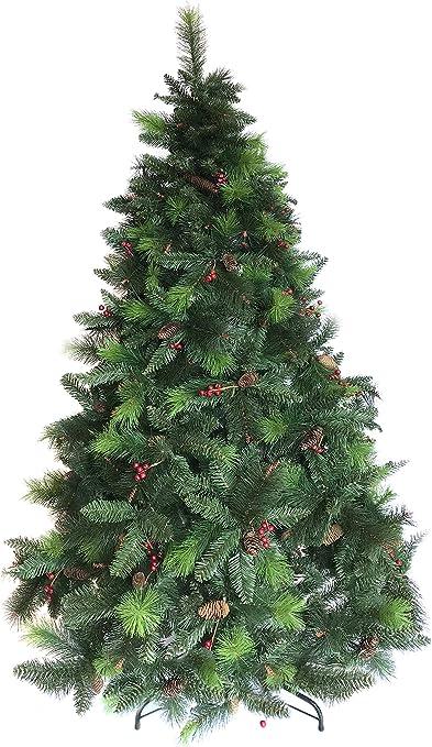 Luxus árbol de Navidad artificial - el verde de gato de madera de ...