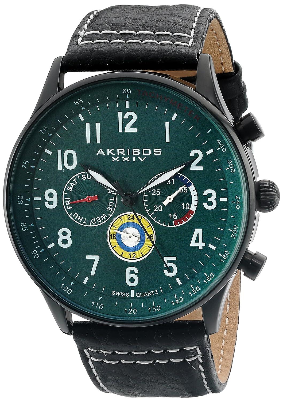 Akribos XXIV Herren-Armbanduhr Explorer Analog Quarz AK751GN