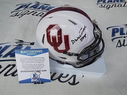 Dede Westbrook Signed Oklahoma OU Sooners Bring the Wood Mini Helmet  Beckett BAS COA ed51f19ba