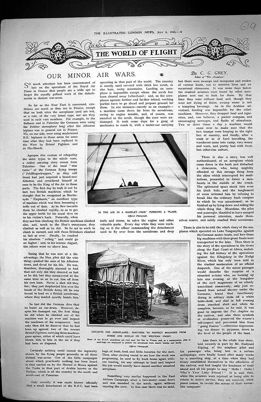 Impresión Antigua de las Cáscaras 1918 de las Bombas de los Refugios de los Aviones de los Cobertizos de la Página de Handley: Amazon.es: Hogar