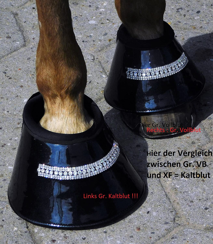 Hufglocken Lack Schwarz Glitzer Strass 2 St/ück Tysons VB WB oder Kaltblut