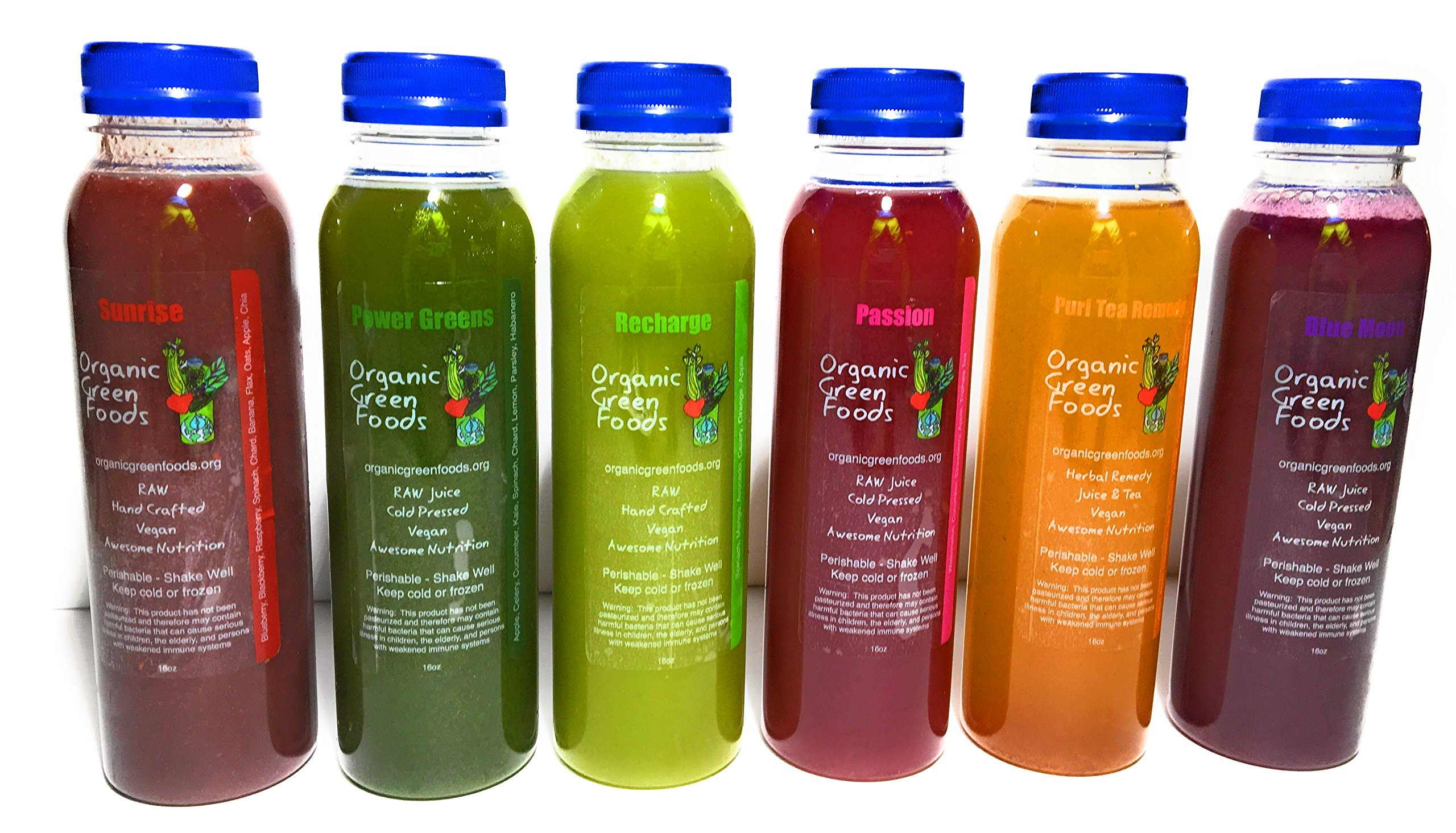 Juice Cleanse ''Skinny'' Cleanse 3 Day - 18 Bottles Organic Green Foods by Organic Green Foods