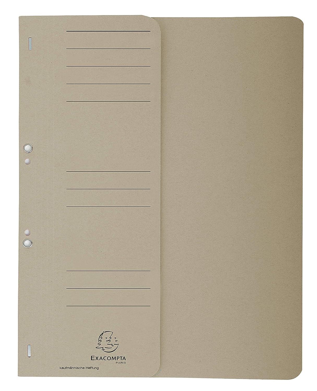 Recycling-Karton, voller Vorderdeckel, Beschriftungsfeld, DIN A4 Exacompta 351525B /Ösenhefter 1 St/ück gr/ün