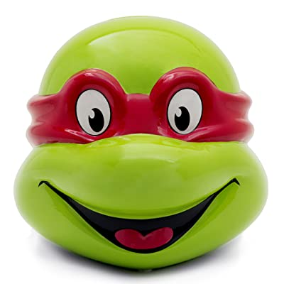 Teenage Mutant Ninja Turtles TMNT Raphael Head Mini Ceramic Bank in Acetate Box
