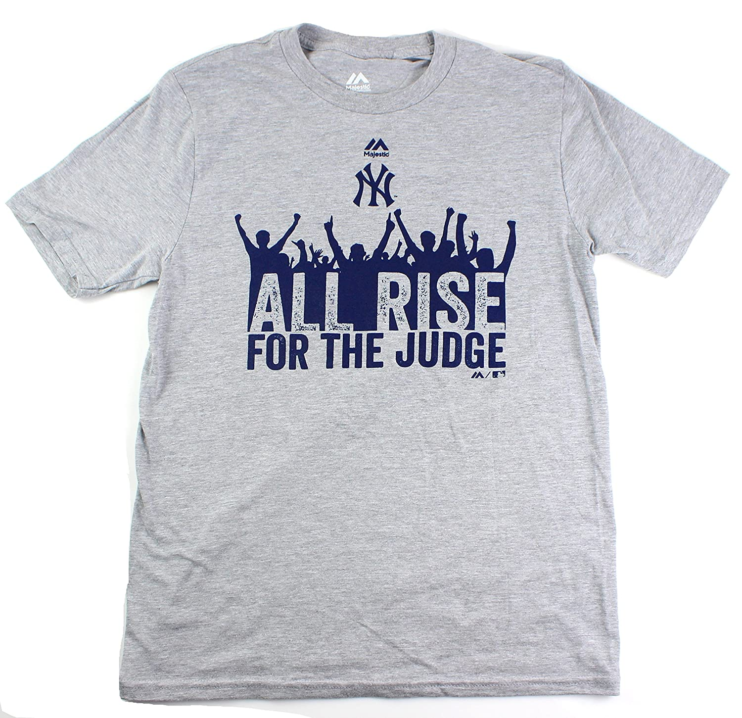 d38851bda Amazon.com : Outerstuff Aaron Judge New York Yankees #99 Youth All Rise &  Cheer Player T-Shirt Gray : Sports & Outdoors