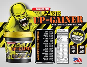 Amazon com: ⧫ Monster Mass Up-Gainer Colossal Labs 10 Lbs