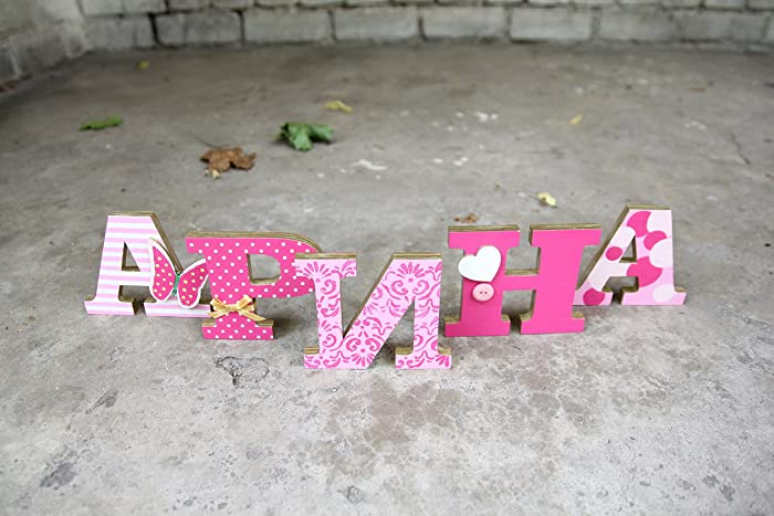 standing wooden letters home decor wedding baby shower birthday personalized gift