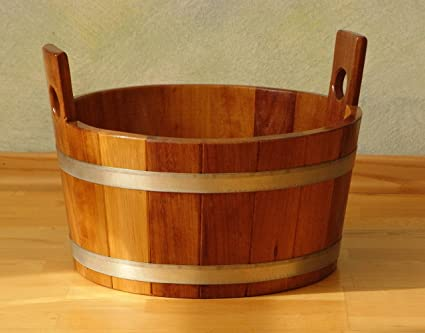 Vasca Da Bagno Tinozza : Vasca da bagno da appoggio tonda in legno idromassaggio