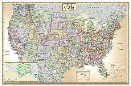 Amazoncom 24x36 United States USA US Executive Wall Map Poster