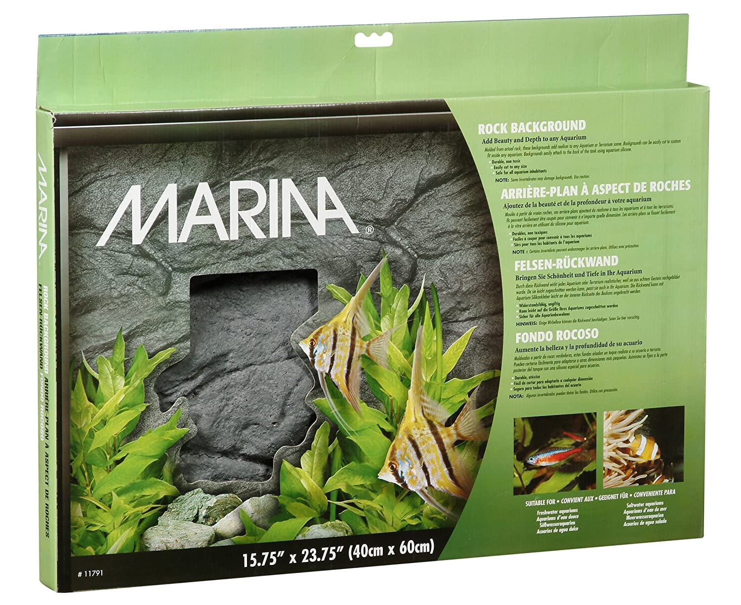 Amazon.com : Marina Styrofoam Background, Rock Design : Aquarium Decor Backgrounds : Pet Supplies