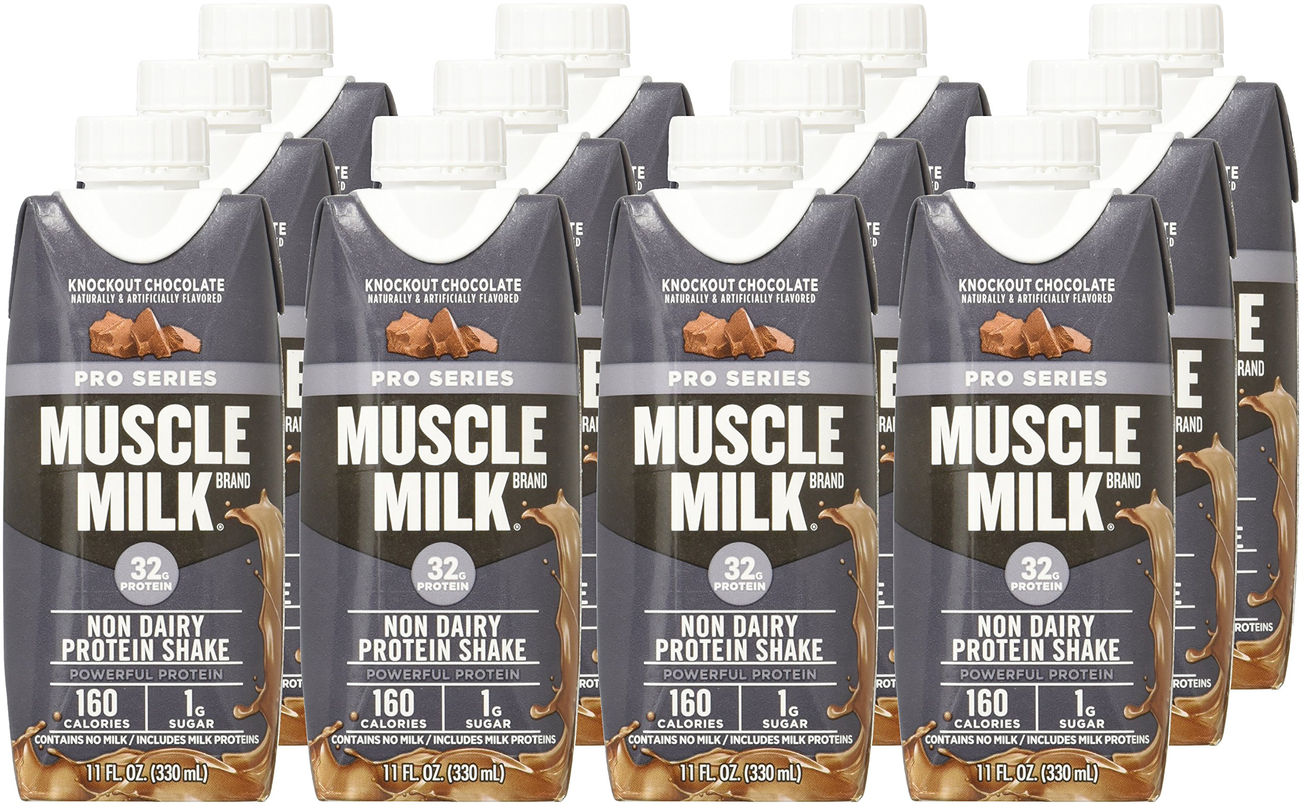 Muscle Milk Pro Series Protein Shake, Knockout Chocolate ...